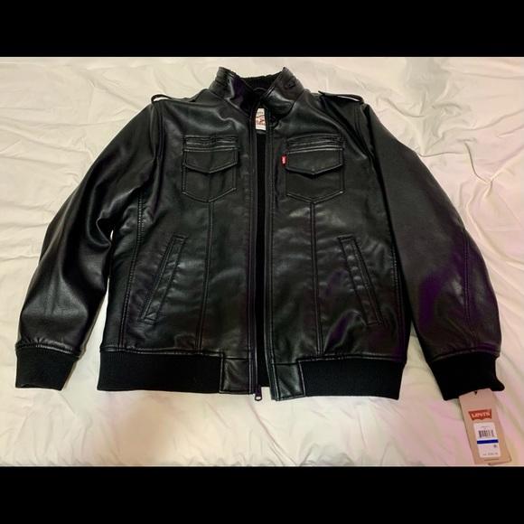 Levi's Sherpa/faux Leather Jacket XL